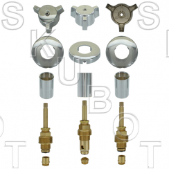 Central Brass Old Style Rebuild Kit 3 Valve -Short Stems