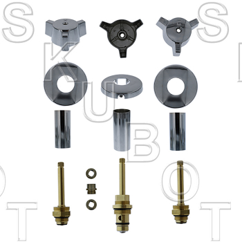 Indiana Brass* 3 Valve Rebuild Kit W/ 1663D Diverter