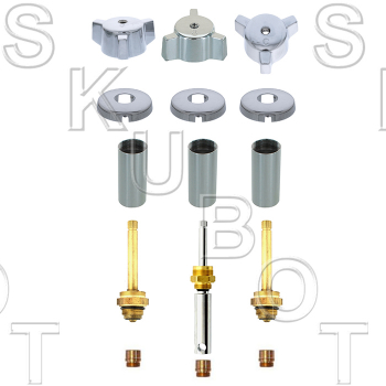 Indiana Brass* 3 Valve Rebuild Kit W/ 1660D Diverter