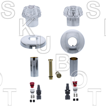Milwaukee Faucets* Washerless 2 Valve Tub & Shower Rebuild Kit