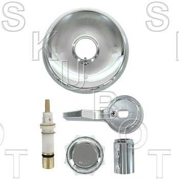 Mixet* Tub & Shower Kit w Clear Knob Handle w/ 5.5in Flange