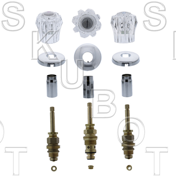 Sterling* 3 Valve Tub & Shower Rebuild Kit