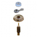 Mixet* Tub & Shower Kit w Clear Plastic Handles w/ 4.5in Flange