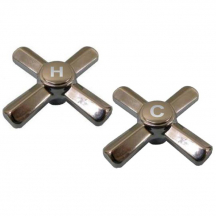 Sterling* Replacement Bath Cross Handles - Pair Hot & Cold